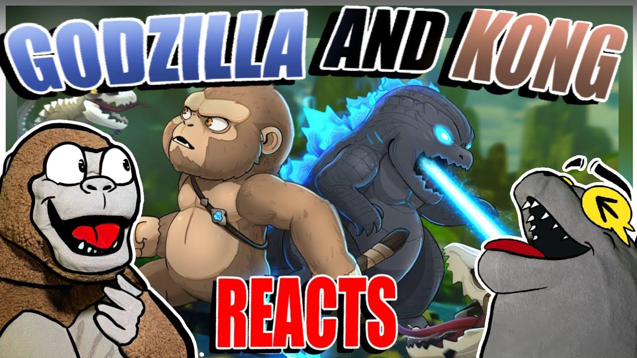 Godzilla Reacts| Baby Godzilla, Kong vs. Skullcrawlers – Animation 5