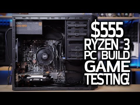 Testing My $555 Ryzen 3 1200 Build in 7 GAMES!