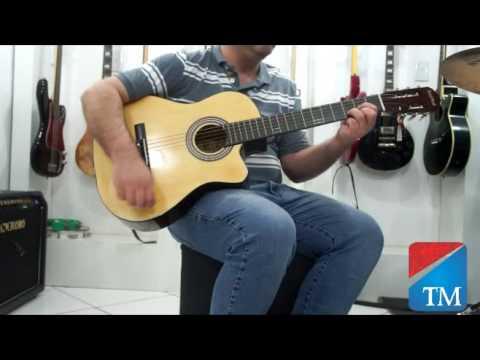 Violão black wood natural - Território da Música