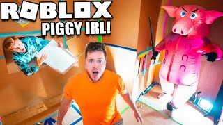 ROBLOX Piggy IRL Box Fort! HIDE And SEEK From PIGGY Challenge