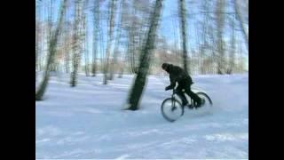 велосипед зимой приколы
