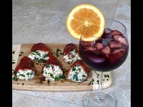 How To Make Red Sangria | Spanish Tuna Stuffed Piquillo Peppers