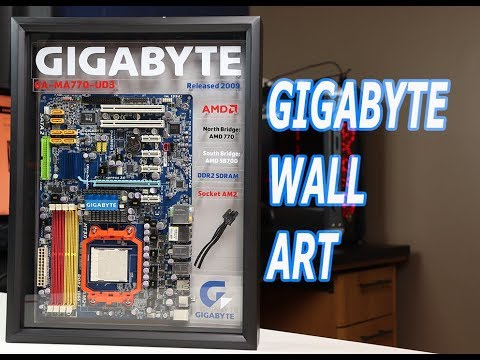 Gigabyte Motherboard Wall Art