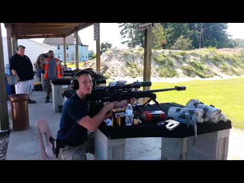 Shooting the .50 cal sniper rifle