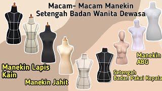 Manekin dressmaker wanita lapis kain dengan kaki