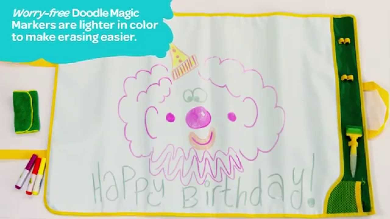 Doodle Magic Color Mat Demo Video Crayola Com