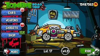 Zombie Road Trip  || All Cars,Weapons Unlocked Gameplay screenshot 3