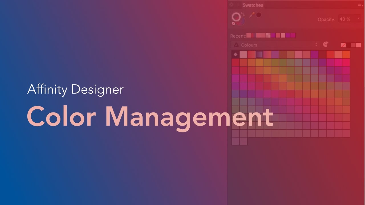 How To Manage Color In Affinity Designer
