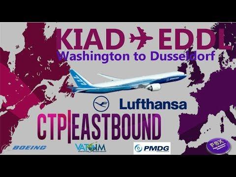 [VATSIM] North Atlantic Crossing (Cross the Pond) | Dulles ✈ Dusseldorf | Boeing 777-200LR Lufthansa