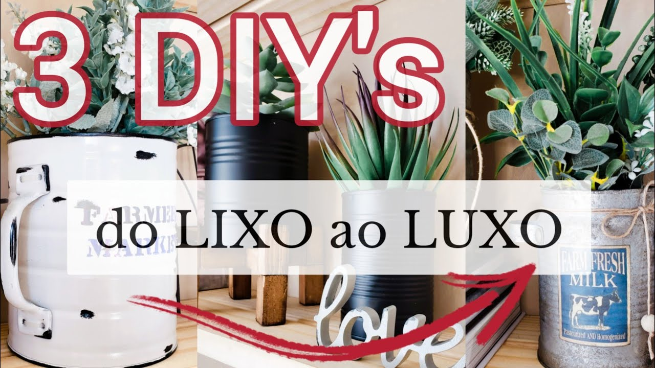 Download Do lixo ao luxo: LATAS/ 3 ideias de faça você mesmo: Reutilizando Latas/3 DIY's: Home decor