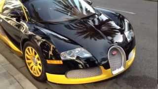I film the Bijan Bugatti Veyron
