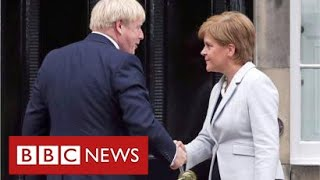 "Boris Johnson tells Scotland the UK is ""fantastically strong institution"" - BBC News"