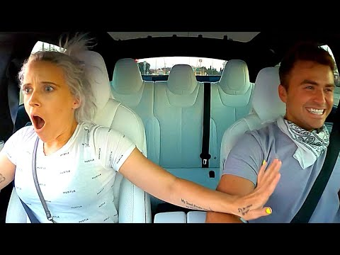 TESLA MODEL S P100D LUDICROUS+ LAUNCH REACTIONS