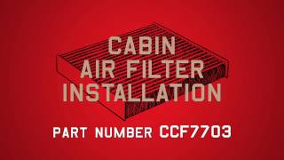 Champion Cabin Air Filter Installation - Part #CCF7703