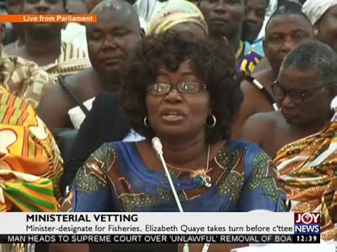 Min-designate for Fisheries, Elizabeth Quaye takes turn before C'ttee - Joy News Today (9-2-17)