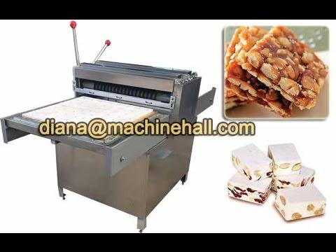 Semi Automatic Peanut Brittle Cutting Machine Nougat Cutting Equipment