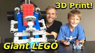 Giant LEGO Go-Kart 3D Print Assembly [kit 1972] - Mantis Hacks E7