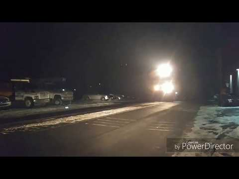 RJ Corman loaded coal train leaving Clearfield 2018