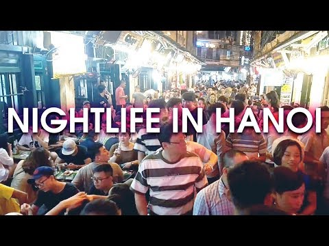 NIGHTLIFE IN HANOI, VIETNAM (Night Market, Beer Corner, Hoan