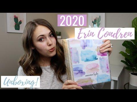 2020 ERIN CONDREN LIFE PLANNER UNBOXING & REVIEW