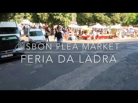 葡萄牙親子旅行里斯本Lisbon flea market Mercado de Santa Clara, Feira da ladra vintage thrift antique shopping