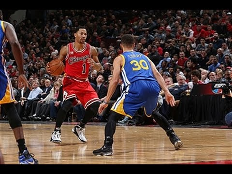 Stephen Curry Duels Derrick Rose in Chicago