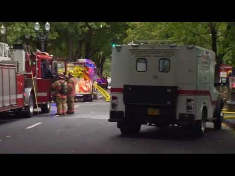 Food cart explosion, fire in downtown Portland