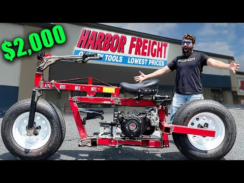 I Built a Motorcycle from Harbor Freight Parts