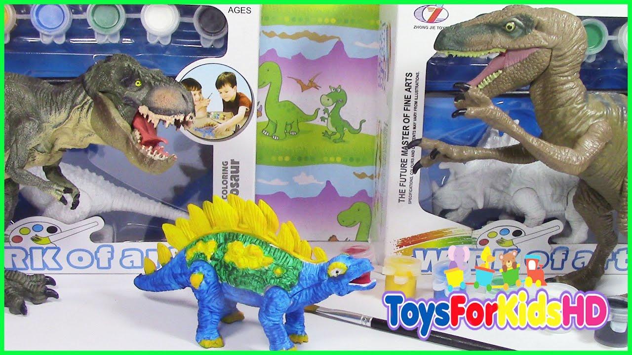Stegosaurus Dinosaurio de juguete para pintar con acuarela ...