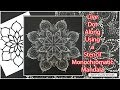Live Dot Along Using a Stencil to Create a Monochromatic Mandala