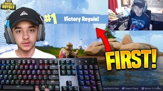 14 Year Old Pro PC Player Reacts To His First Ever WIN in Fortnite!