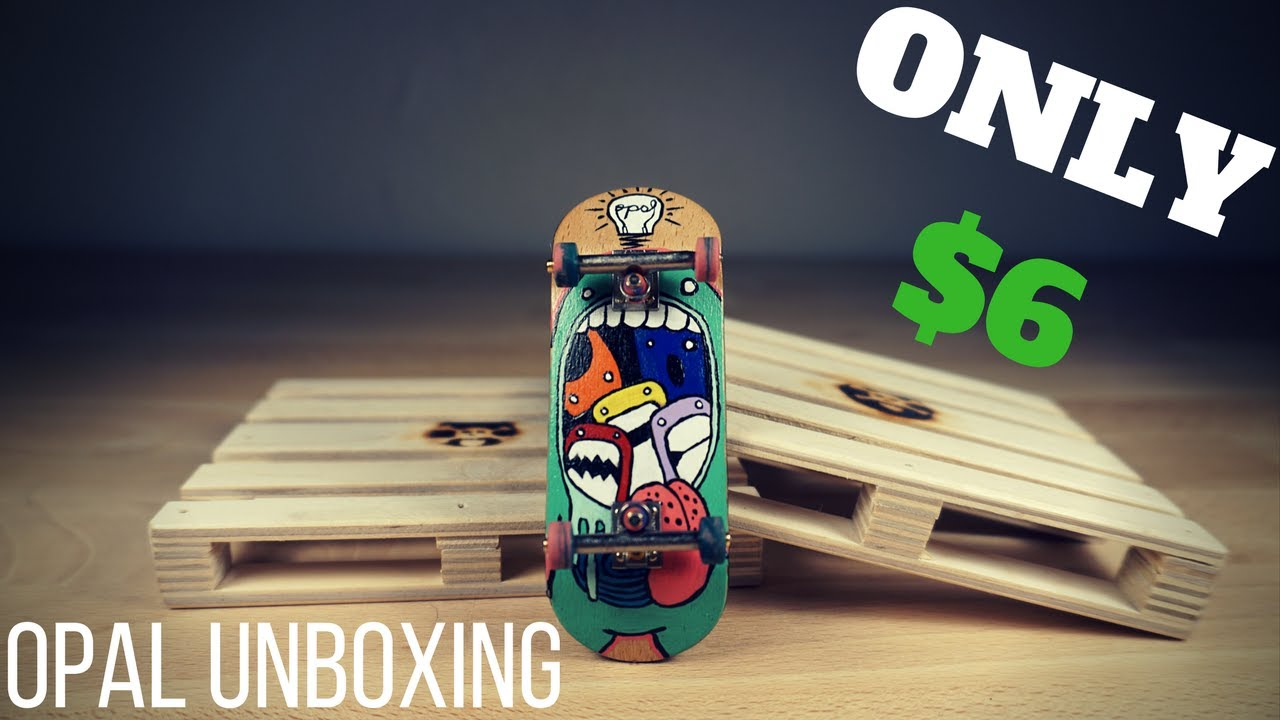AWESOME FINGERBOARD FOR ONLY $6!!! (Opal Unboxing/Review)