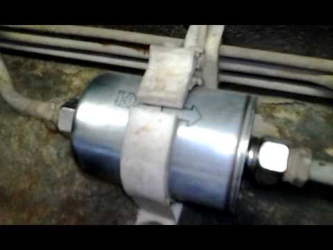 How to change your fuel filter on a Chevy Truck - YouTube
