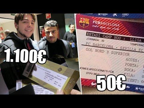 ENTRADA DE 1100€ VS ENTRADA DE 50€ | BARCELONA 2-1 SEVILLA