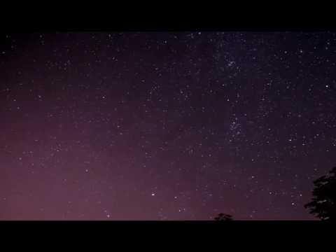 Движение звездного неба. 11-12августа 2016.