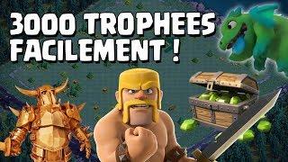 3000 trophées facilement 1000 gemmes succès MDO ! Clash of Clans