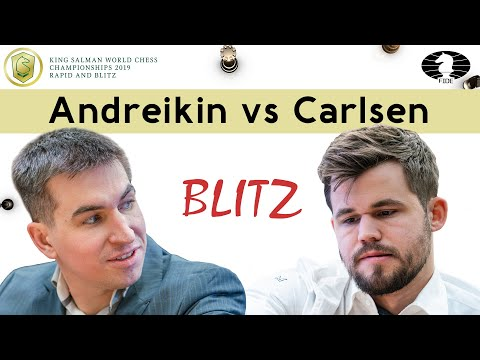 The only defeat of Magnus at World Blitz 2019 | Dmitry Andreikin vs Magnus Carlsen |