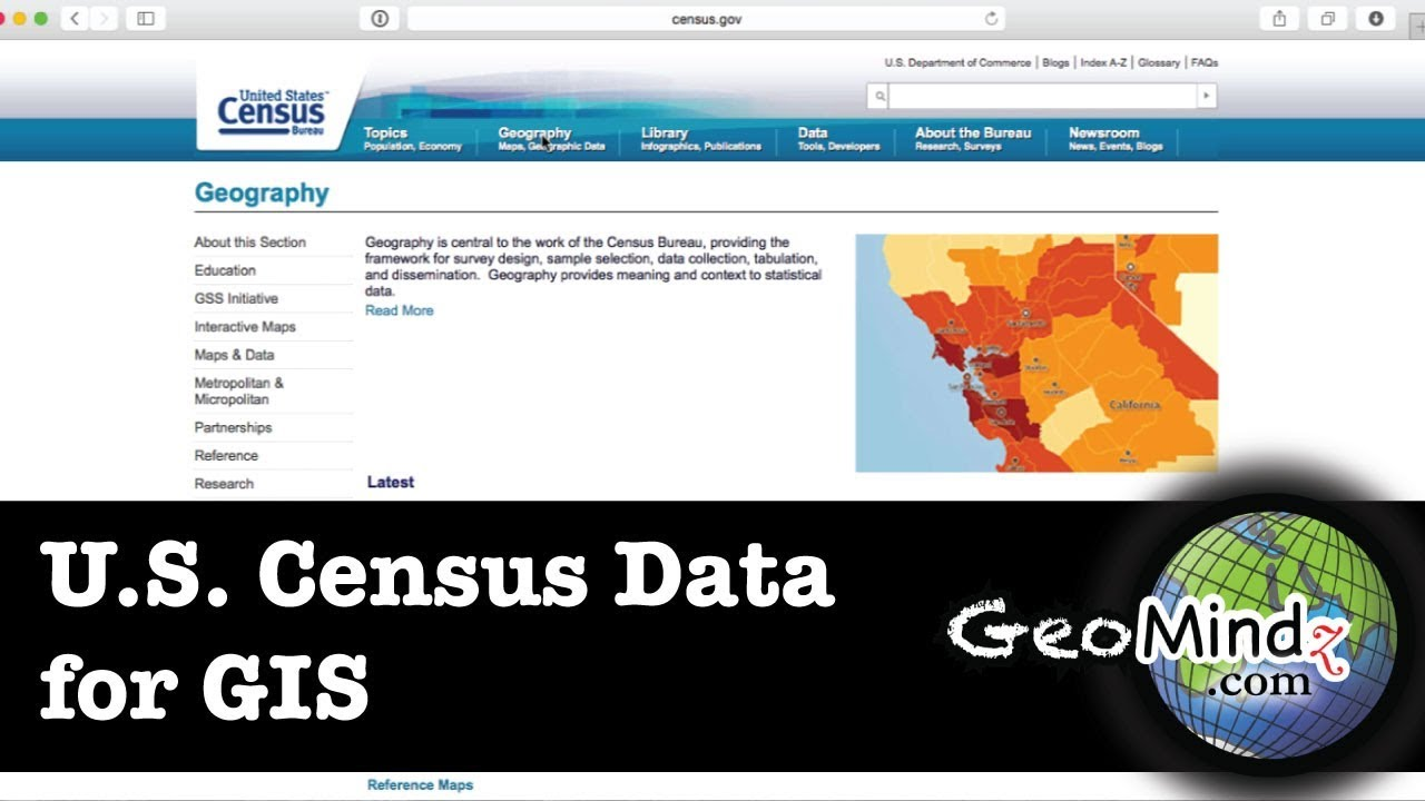 The US Census For GIS Data GIS Fundamentals And Mapping Lab - Us census buraue interactive map education