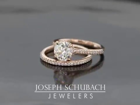 Rose Gold Cathedral Engagement Ring