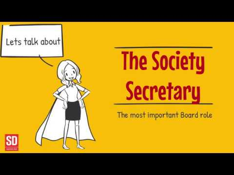 Lets Talk About The Role Of The Society Secretary - A short 'How To' Guide