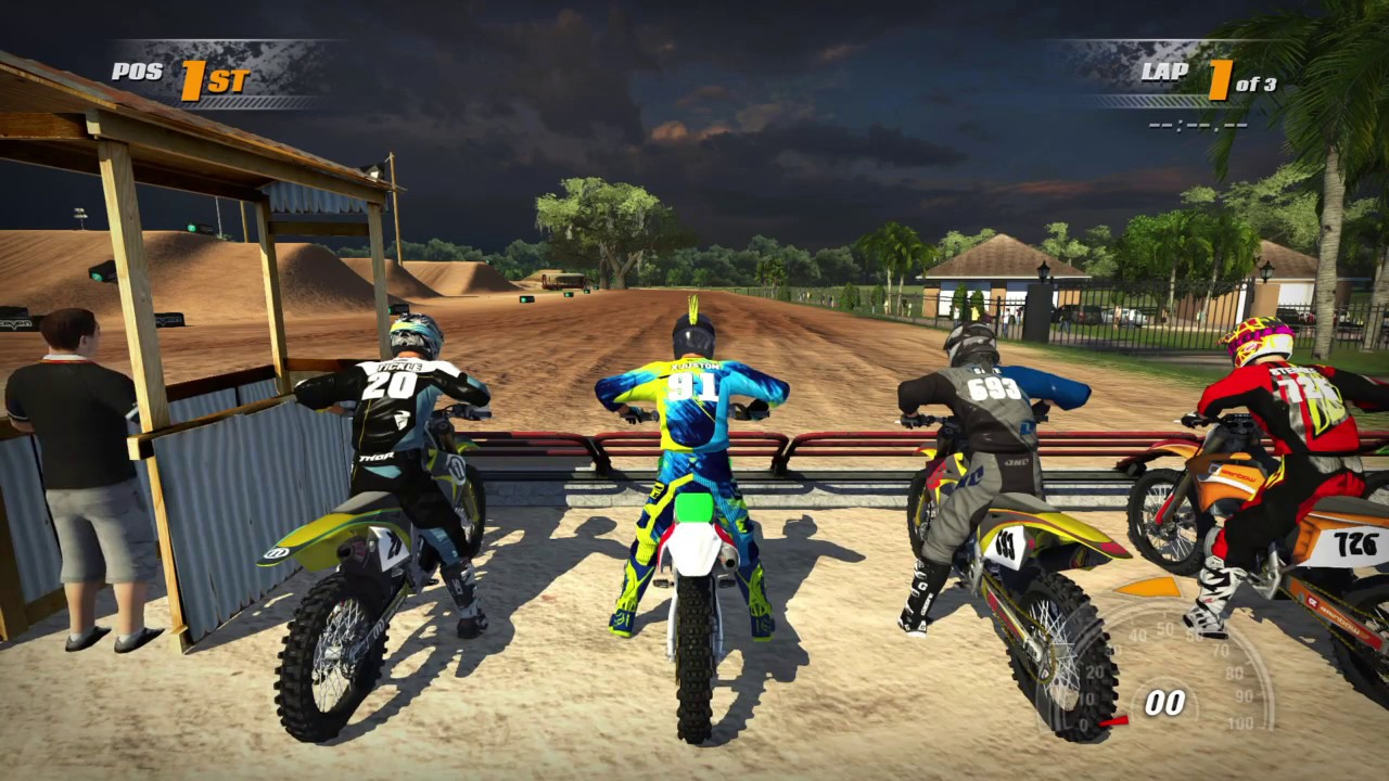 mx vs atv supercross encore gameplay kawasaki 450 js7 pro. Black Bedroom Furniture Sets. Home Design Ideas