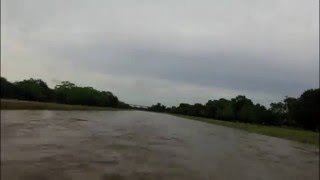 Time lapse of entire flood event from Brays Bayou @ Rice Ave in Houston