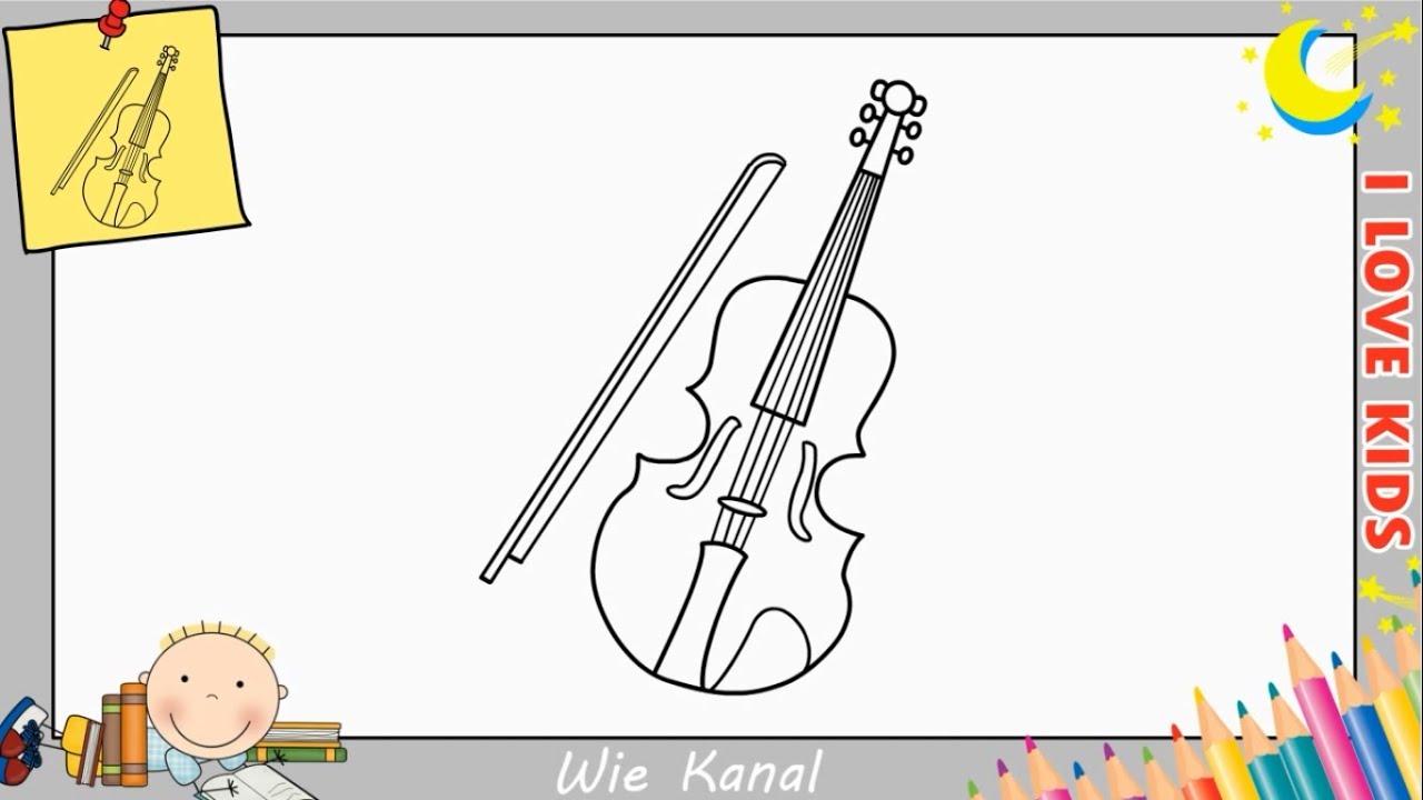 violine zeichnen lernen einfach schritt f r schritt f r. Black Bedroom Furniture Sets. Home Design Ideas