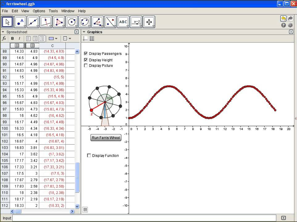 algebra precalculus - Ferris Wheel Problem - Mathematics ...