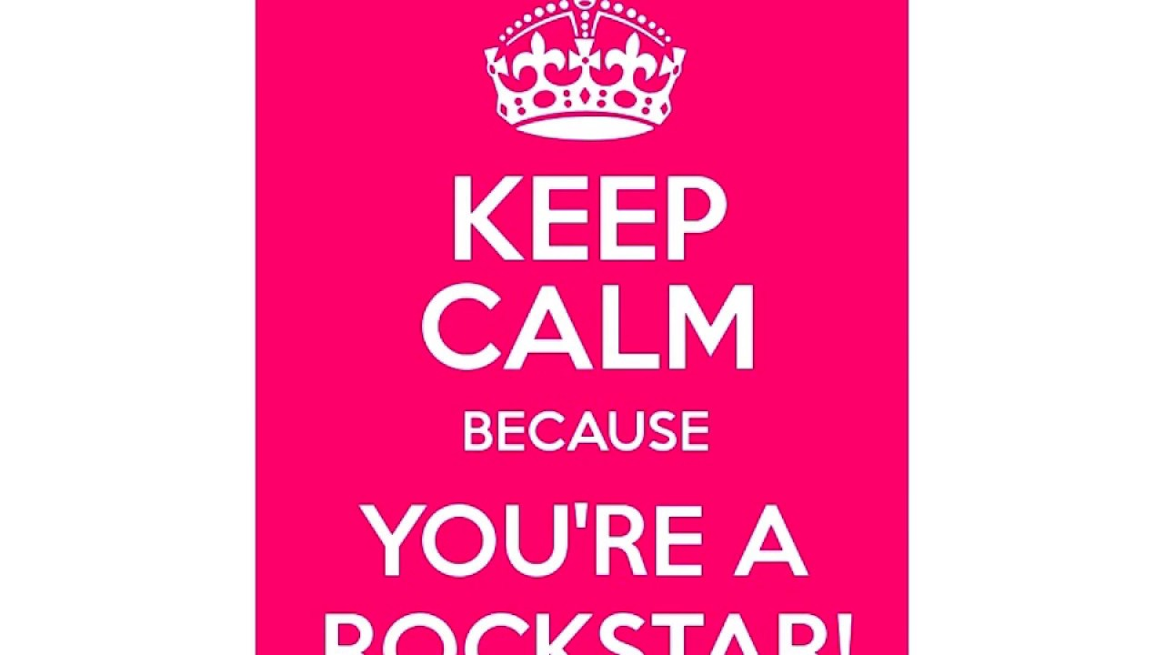 you are a rock star