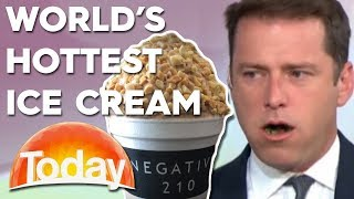 TV host eats the world's hottest ice cream