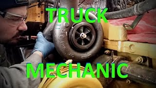 A Day In The Life Of A Truck Mechanic.  Heavy Duty Truck Diesel Engine Mechanic.