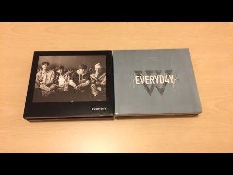 Unboxing — Winner - Everyd4y Second Full Album, Day & Night Version ♡