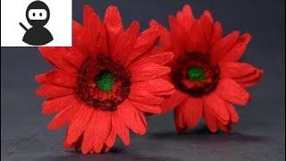 Paper Flowers - Duplex Paper Gerbera Daisy Flower Craft New 2018