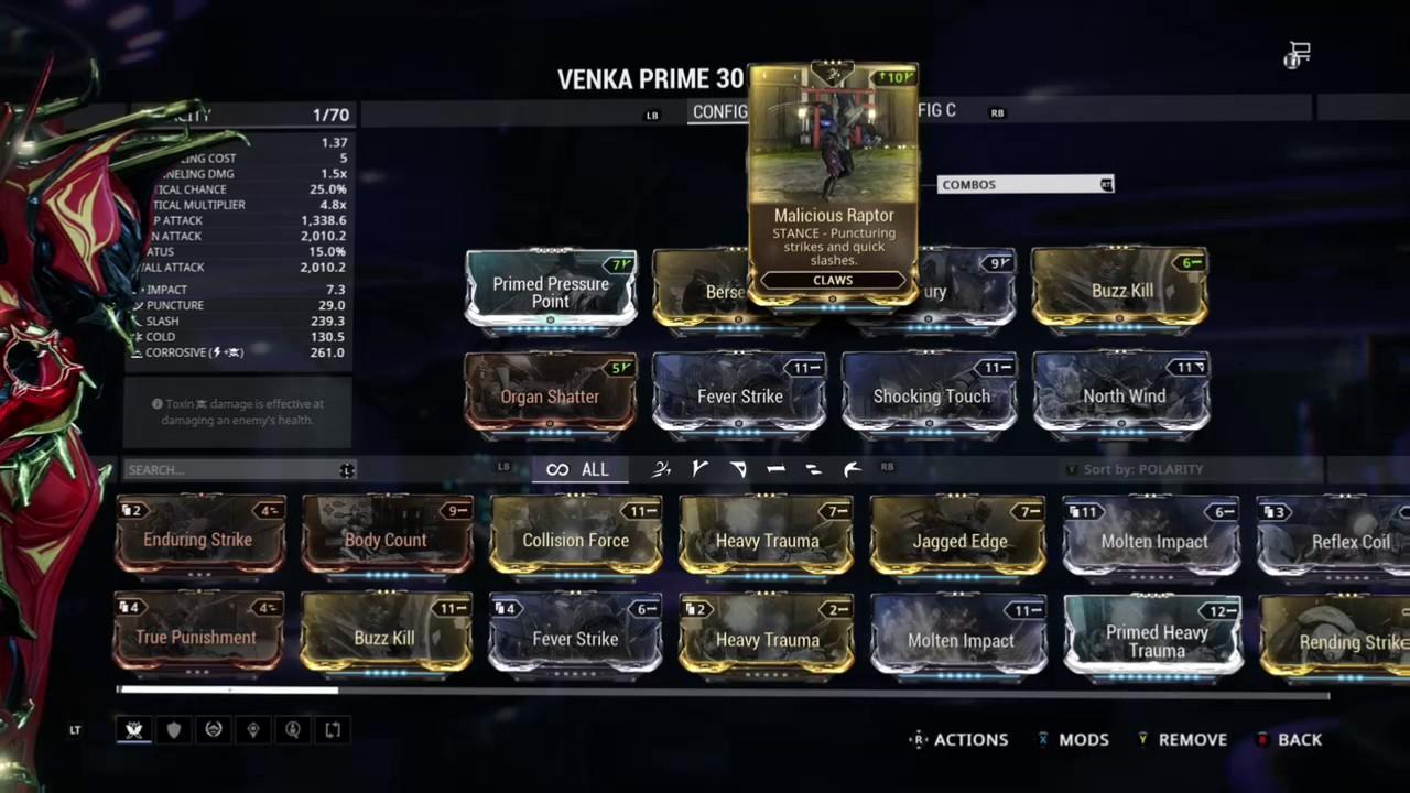 Venka Prime Best Build